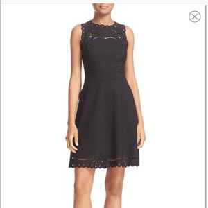 Ted Baker embroidered fit and flare dress